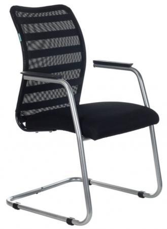 Кресло Бюрократ CH-599AV/32B/TW-11 на полозьях черный TW-32K01 сиденье черный TW-11 сетка/ткань цена