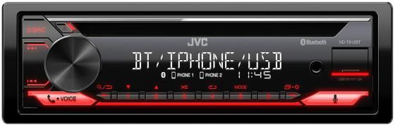Автомагнитола CD JVC KD-T812BT 1DIN 4x50Вт автомагнитола jvc kd r491 usb mp3 cd fm rds 1din 4x50вт черный