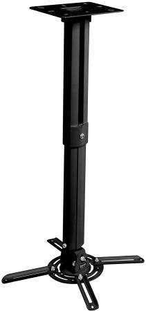 Фото - Кронштейн для проектора Buro PR05-B черный макс.13.6кг потолочный поворот и наклон карниз потолочный пластиковый dda поворот акант двухрядный серебро 2 8