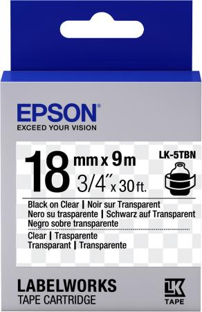 Epson Tape LK-5TBN Clear Blk/Clear 18/9