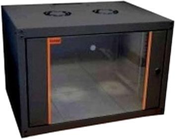 цена на Шкаф настенный ECOline 1912U600x600 дверь стекло, цвет черный