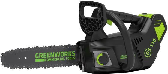 Greenworks Цепная пила аккумуляторная GD40TCS, {40V, 25 см, без АКБ и ЗУ} [2003807] аккумуляторный кусторез greenworks g40ph51 40v без акб и зу