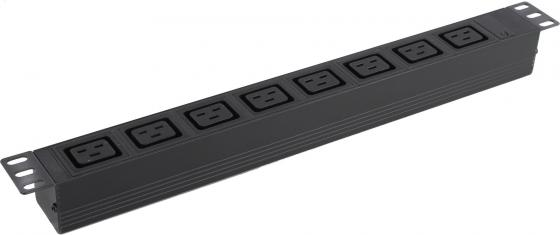 "лучшая цена Exegate EX280872RUS Блок розеток ExeGate ServerPro PDU-19H014 Al-8C19-C20, 19"",1U,алюм, 8 IEC 320 C19, С20"