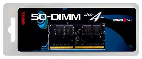 Оперативная память для ноутбука 4Gb (1x4Gb) PC4-21300 2666MHz DDR4 SO-DIMM CL19 GeIL GS44GB2666C19SC оперативная память 4gb 1x4gb pc4 21300 2666mhz ddr4 dimm cl19 transcend jm2666hlh 4g