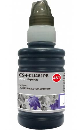 Чернила Cactus CS-I-CLI481PB фото синий100мл для Canon Pixma TS8140/TS9140 чернила cactus cs i cl441m magenta 100ml для canon pixma mg2140 mg3140