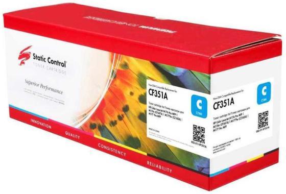 Фото - Картридж Static Control CF351A для HP Color LaserJet Pro M176 Color LaserJet Pro M177 1000стр Голубой картридж colortek схожий с hp cf351a 130a cyan для hp laserjet pro color cljp m176 m177