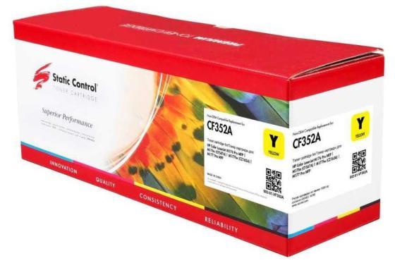 Фото - Картридж Static Control CF352A для HP Color LaserJet Pro M176 Color LaserJet Pro M177 1000стр Желтый картридж colortek схожий с hp cf351a 130a cyan для hp laserjet pro color cljp m176 m177