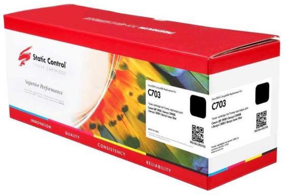 Фото - Картридж лазерный Static Control 002-04-LRG703 C703 черный (2000стр.) для Canon LBP2900/3000Series картридж canon 703 для lbp2900 lbp3000 2000стр