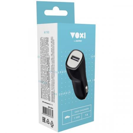 Smart buy Автомобильное ЗУ 1 A Max, USB ,черное Voxi SBP-0501 (SBP-0501)