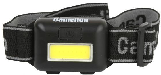цена на Camelion LED5355 (фонарь налобн, черн.,1Вт COB LED, 3 реж, 3XAAA, пласт, блист)