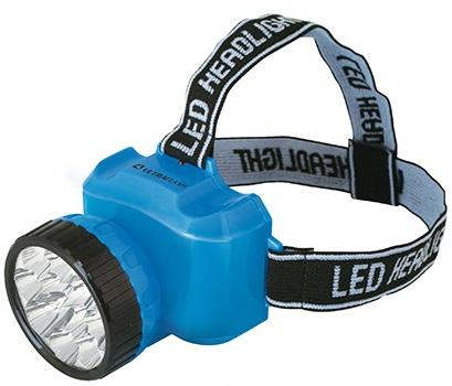 Ultraflash LED5361 (фонарь налобн аккум 220В, голубой, 12LED, 2 реж, пласт, бокс)