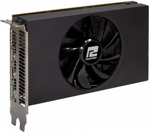 Видеокарта PowerColor PCI-E 4.0 AXRX 5700 ITX 8GBD6-2DH AMD Radeon RX 5700 8192Mb 256bit GDDR6 1465/14000/HDMIx1/DPx2/HDCP Ret видеокарта powercolor pci e ax5450 2gbk3 shv7e amd radeon hd 5450 2048mb 64bit ddr3 650 800 dvix1 hdmix1 crtx1 hdcp ret