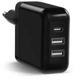 Сетевое зар./устр. Samsung KeyCo 3-in-1 2A+1A+2A кабель USB Type C черный (GP-U999SOPCFEA) стоимость