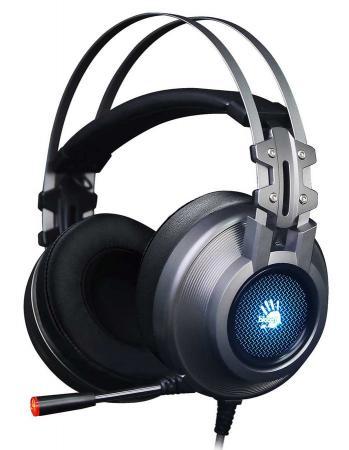 цена на Наушники с микрофоном A4 Bloody G525 серый 2м мониторы оголовье (G525 GREY)