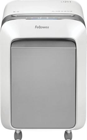 Шредер Fellowes PowerShred LX211 белый (секр.P-5)/перекрестный/15лист./23лтр./скрепки/скобы/пл.карты цена 2017