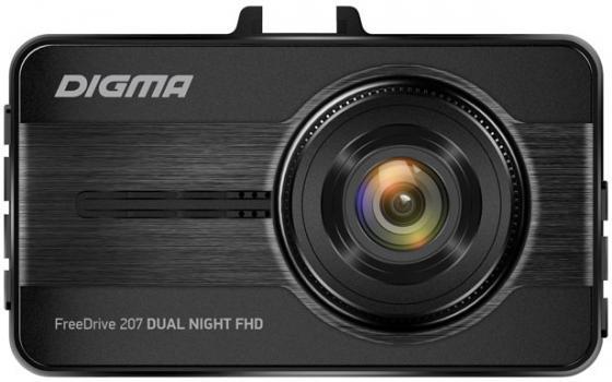 Видеорегистратор Digma FreeDrive 207 DUAL Night FHD черный 2Mpix 1080x1920 1080p 150гр. GP6248