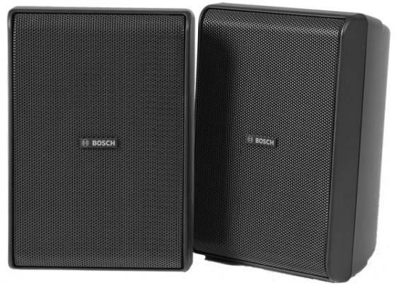 """Акустическая система [F01U331734] BOSCH LB20-PC30-5D двухполосная, 5.25""""+0.75"""", 70/100В, 30/15/7.5/3.5 Вт, 109 dB, черная, IP54, цена за пару (2 шт. в упаковке) фото"""