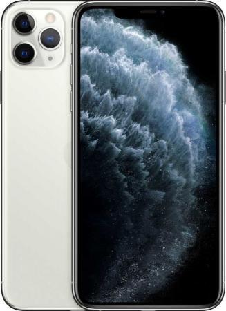 "Смартфон Apple iPhone 11 Pro Max серебристый 6.5"" 256 Гб NFC LTE Wi-Fi GPS 3G Bluetooth MWHK2RU/A смартфон apple iphone 6 plus серый 5 5 64 гб nfc lte wi fi gps mgah2ru a"