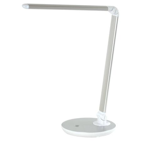 Светильник настольный SONNEN PH-3609, на подставке, светодиодный, 9 Вт, алюминий, серебристый, 236688