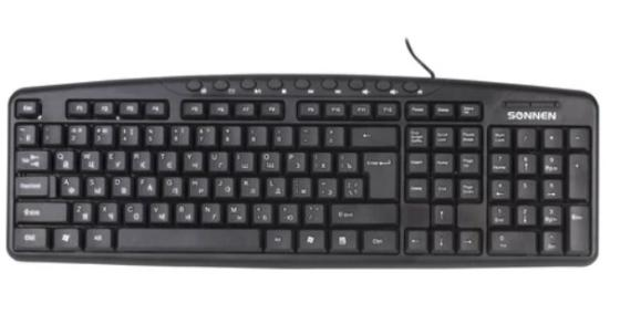 Фото - Клавиатура проводная Sonnen KB-8137 USB черный клавиатура проводная genius kb 125 usb черный