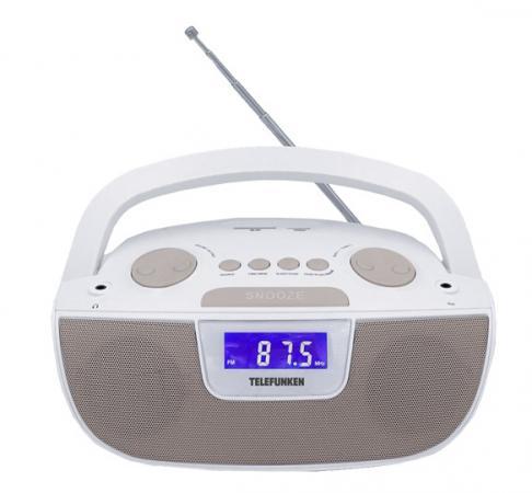 Аудиомагнитола Telefunken TF-SRP3469 белый 2Вт/MP3/FM(dig)/USB/SD аудиомагнитола telefunken tf csrp3494b черный 2вт cd cdrw mp3 fm an usb bt sd mmc
