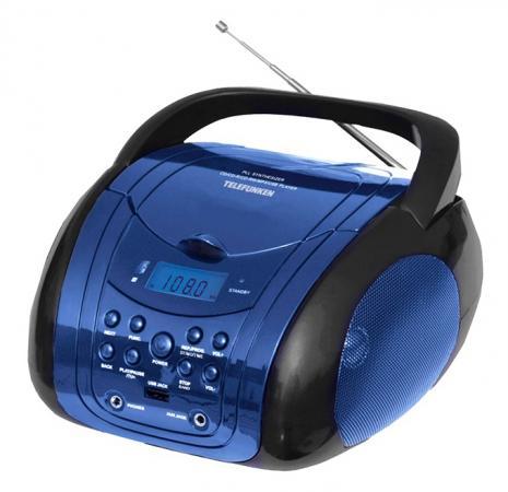 Аудиомагнитола Telefunken TF-CSRP3499B синий/черный 3Вт/CD/CDRW/MP3/FM(dig)/USB/BT аудиомагнитола telefunken tf csrp3494b черный 2вт cd cdrw mp3 fm an usb bt sd mmc