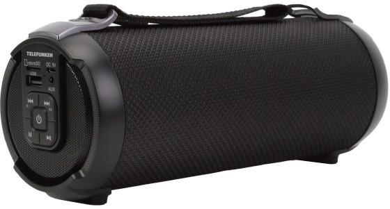 лучшая цена Колонка порт. Telefunken TF-PS1243B черный 6W 1.0 BT/USB (TF-PS1243B(ЧЕРНЫЙ))