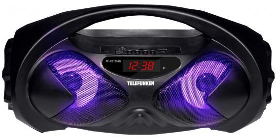 лучшая цена Колонка порт. Telefunken TF-PS1258B черный 18W 2.0 BT/USB (TF-PS1258B(ЧЕРНЫЙ))