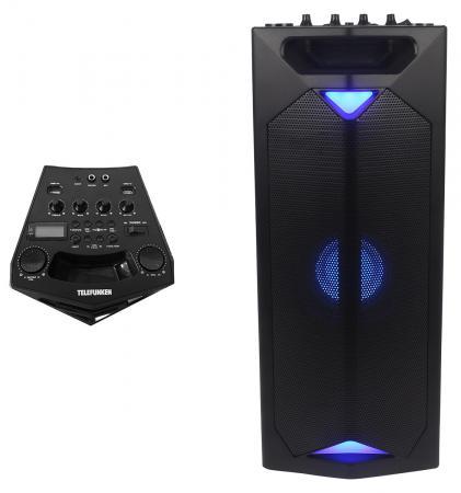 Микросистема Telefunken TF-PS2203 черный 50Вт/FM/USB/BT/SD