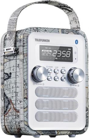 Радиоприемник настольный Telefunken TF-1580UB белый радиоприемник telefunken tf csrp3480 silver