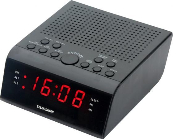 Радиоприемник настольный Telefunken TF-1590 черный/красный