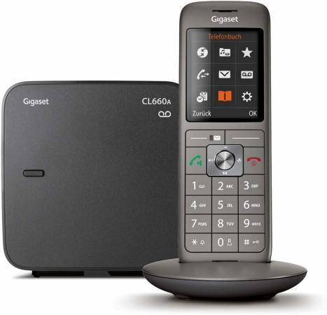 Фото - Р/Телефон Dect Gigaset CL660A черный автооветчик АОН радиотелефон gigaset cl660a черный