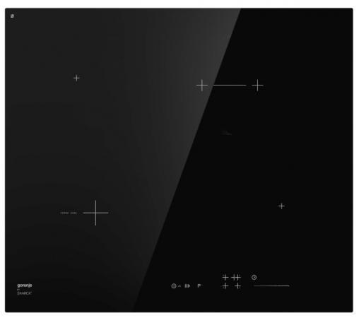 Встраиваемая варочная панель GORENJE/ Starck, Стеклокерамическая варочная панель, Цвет: Черный, Стеклокерамическая варочная панель, Алюминиевые профили, Сенсор плавного контроля SliderTouch, Таймер, Функция PowerZone, Защитная блокировка от детей, Габаритные размеры (вхшхг): 5,4х60х52 см цена и фото