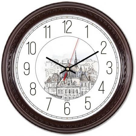 Часы настенные аналоговые Бюрократ WallC-R63P коричневый
