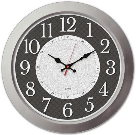 Часы настенные аналоговые Бюрократ WallC-R67P серебристый