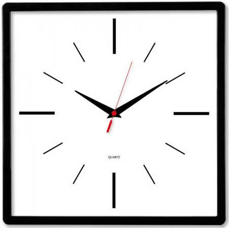 Часы настенные аналоговые Бюрократ WallC-S61P черный