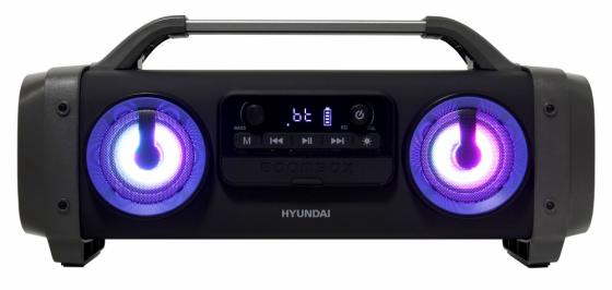 Аудиомагнитола Hyundai H-PCD400 черный 28Вт/MP3/FM(dig)/USB/BT/microSD аудиомагнитола telefunken tf srp3503b серый 6вт mp3 fm dig usb bt sd