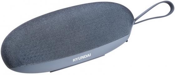 Колонка порт. Hyundai H-PAC280 синий/серый 5W 1.0 BT/3.5Jack/USB 10м