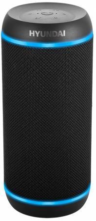 Колонка порт. Hyundai H-PAC380 черный 30W 1.0 BT/3.5Jack/USB 10м