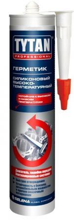 ГЕРМЕТИК СИЛИКОН. ВЫСОКОТЕМПЕРАТУРНЫЙ КРАСНЫЙ 280 МЛ (12) TYTAN герметик силикон универсальный белый 80 мл 10 tytan
