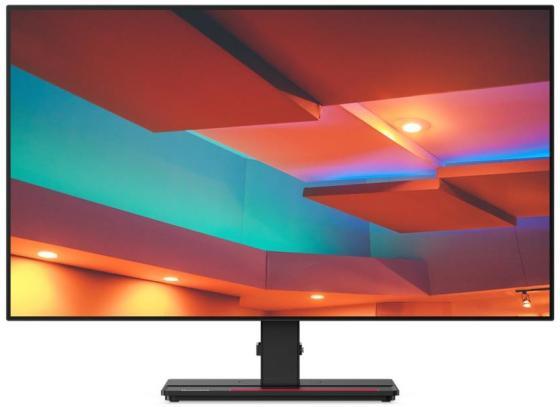 Монитор 27 Lenovo ThinkVision P27q-20 черный IPS 2560x1440 350 cd/m^2 6 ms HDMI DisplayPort Аудио USB USB Type-C 61EAGAT6EU монитор 43 philips 436m6vbpab 00 01 черный mva 3840x2160 1000 cd m^2 4 ms hdmi displayport mini displayport аудио usb