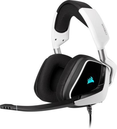 Игровая гарнитура Corsair Gaming™ VOID RGB ELITE USB Premium Gaming Headset with 7.1 Surround Sound, White