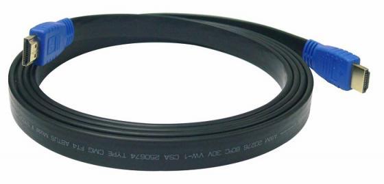 Фото - Кабель HDMI 3м Kramer C-HM/HM/FLAT/ETH-10 плоский черный кабель hdmi 3м kramer c hm hm flat eth 10 плоский черный 97 01014010