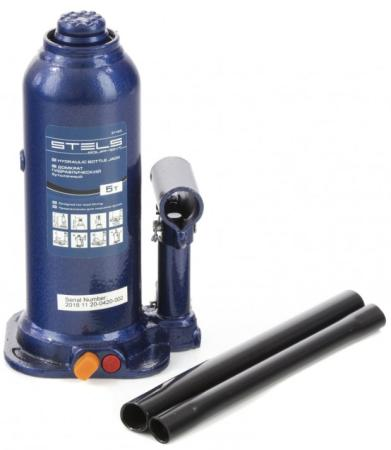 Домкрат гидравлический бутылочный, 5 т, h подъема 207-404 мм// Stels