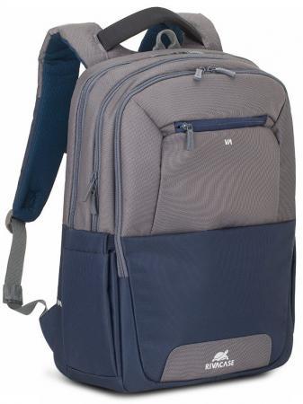 Рюкзак для ноутбука 17.3 Riva 7777 полиэстер нейлон серый синий рюкзак для ноутбука 15 6 riva 7560 полиэстер черный