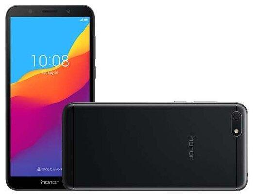 Смартфон Honor 7S 1/16Gb black (51094QSN) смартфон huawei honor 8 pro black