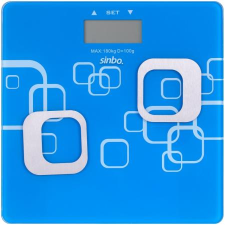 Весы напольные Sinbo SBS 4448 синий белый
