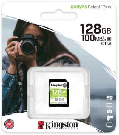 Фото - SecureDigital 128Gb Kingston SDS2/128GB {SDXC Class 10 UHS-I U3 Canvas Select Plus} флеш карта sd 128gb kingston sdxc class 10 uhs i u3 v30 canvas go plus 170mb s
