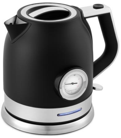 Фото - Чайник электрический KITFORT КТ-692-1 2200 Вт чёрный 1.7 л нержавеющая сталь чайник электрический kitfort кт 675 1 2200 вт белый 1 7 л нержавеющая сталь