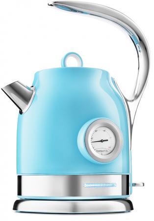 Фото - Чайник электрический KITFORT КТ-694-2 2200 Вт голубой 1.7 л нержавеющая сталь чайник электрический kitfort кт 675 1 2200 вт белый 1 7 л нержавеющая сталь